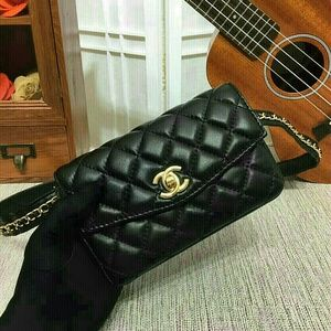 Chanel LEATHER Fanny Pack Waist Bag LIMITED!